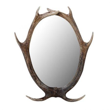 Resin Antler Wall Mirror