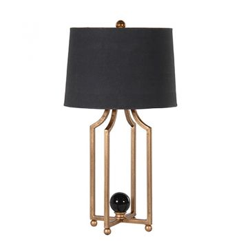 Metal Leg Table Lamp with Black Shade SXP134. Our unusual table lamp has a fantastic four leg base. The black shade compliments the bronze stand wonderfully.