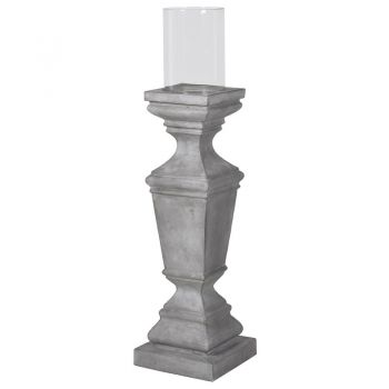Large Pedestal Hurricane UNP041. Our large pedestal hurricane is a magnificent piece. It would look great as a pair on a side table or mantel piece or look good beside the smaller version!