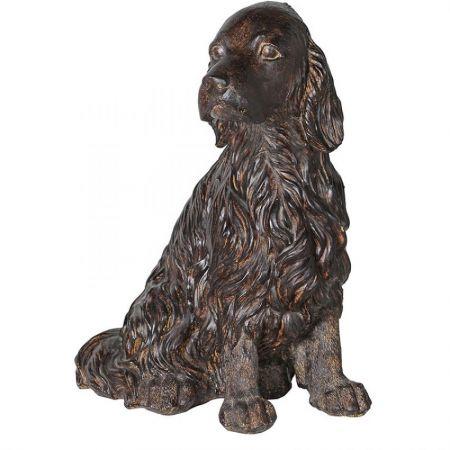 Brown Sitting Spaniel Dog