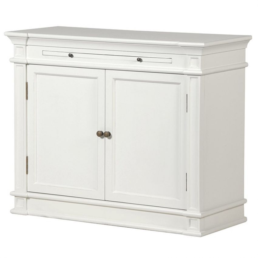 White Fayence Sideboard with Slide