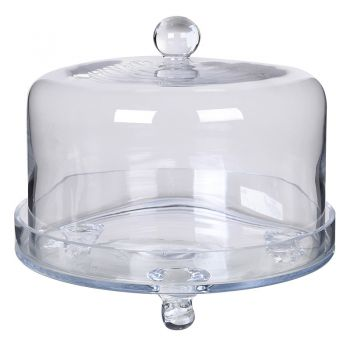 Glass Cake Dome and Plate ZCG012. Do you have a desire to make cakes? Our glass dome will sit beautifully above your freshly made cupcakes and biscuits.