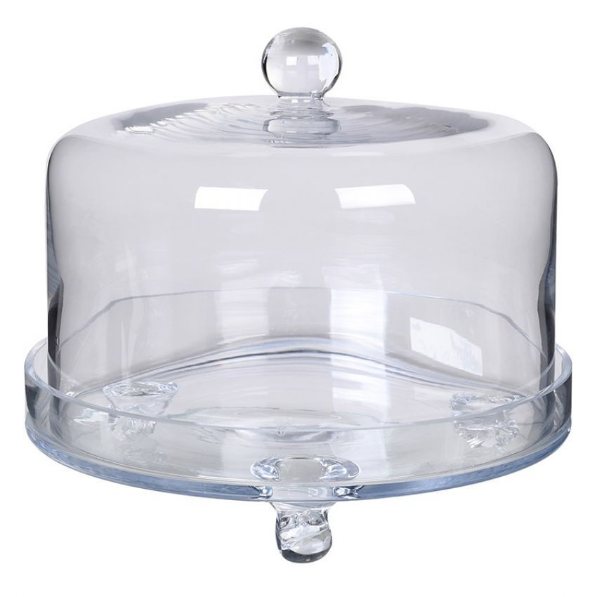 Glass Cake Dome and Plate