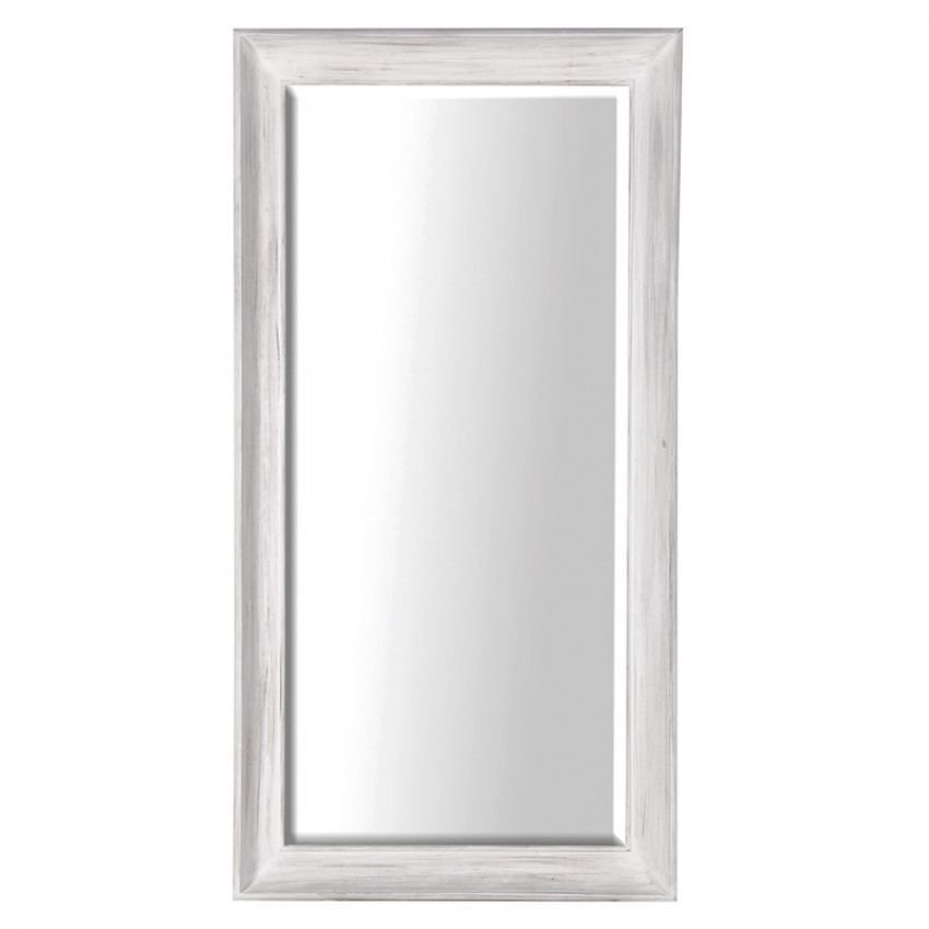 Large White Deep Frame Mirror from Just Trio