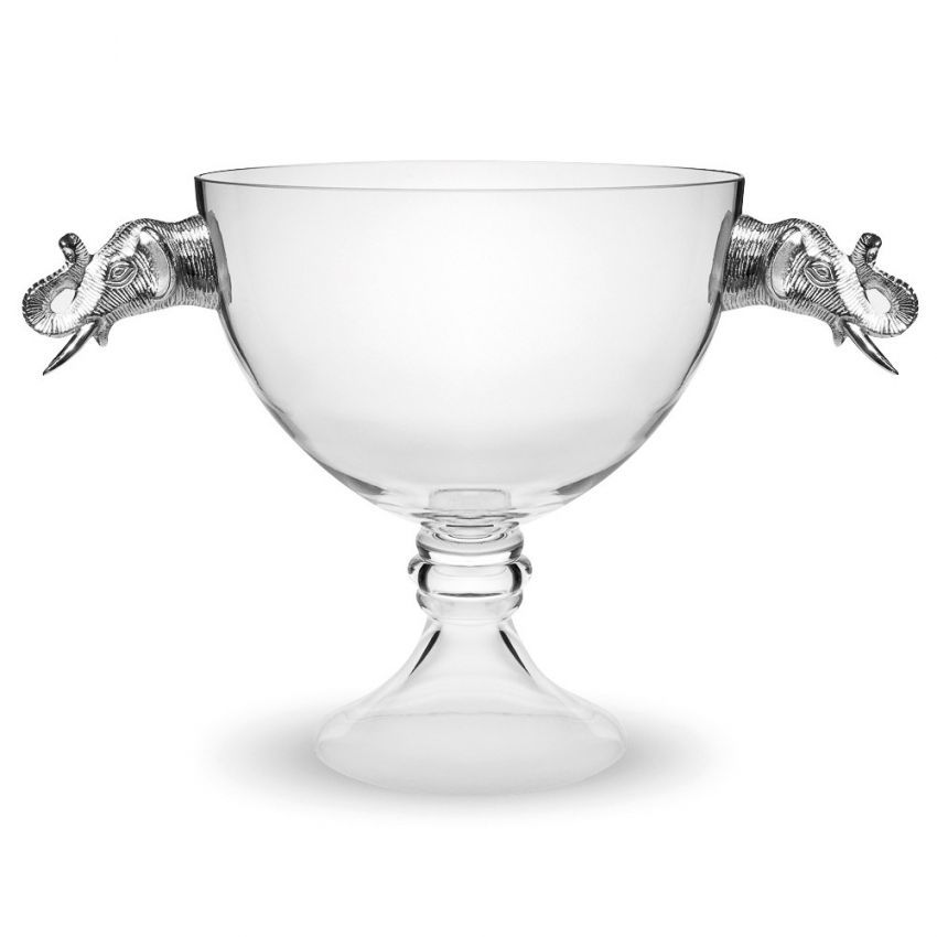 Culinary Concepts Large Elephant Pedestal Glass Bowl
