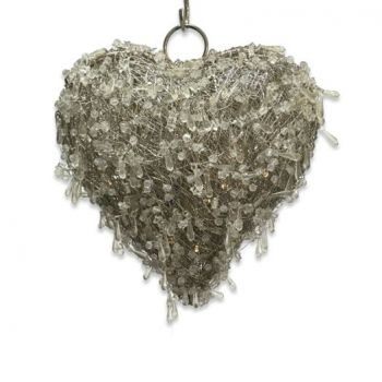 Culinary Concepts LED Beaded Hanging Heart Small HL-LEDHRT-SML. Made from tightly woven wire around a steel frame, our hanging LED heart is a must-have.