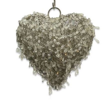 Culinary Concepts LED Beaded Hanging Heart Small