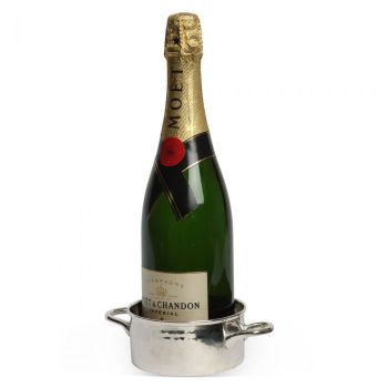 Culinary Concepts Palace Bottle Coaster PAL-6120. Designed to hold a bottle of champagne, wine or even your favourite luxury spirit, this piece of practical barware looks stunning in our silver finish.