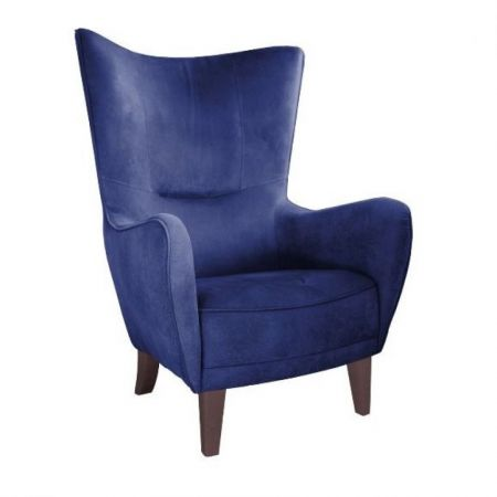 Culinary Concepts Romeo Velvet Navy Blue Chair