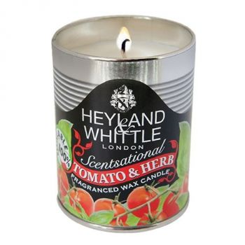 justtrio barnstaple store. Barnstaple gift shop candles. Cheap candle sale UK. Heyland and Whittle tin candles. New garden candles sale. Kitchen candles. Candle gift ideas. Heyland and Whittle Tomato and Herb Candle in a Can 460. This Scentsational Tomato & Herb Candle will fragrance your home with the summer scent of freshly picked tomatoes combined with lush, sweet basil leaves. Deliciously fragrant! Bring the smell of tomato into your home. Great as a gift!