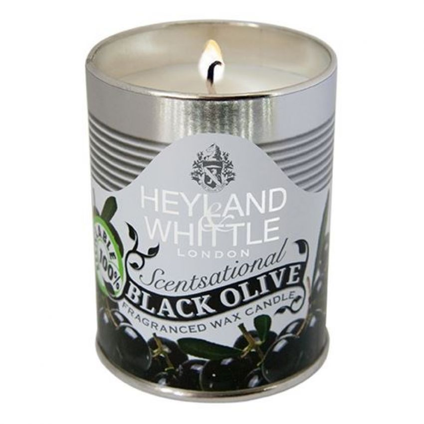 Heyland and Whittle Black Olives Candle in a Can