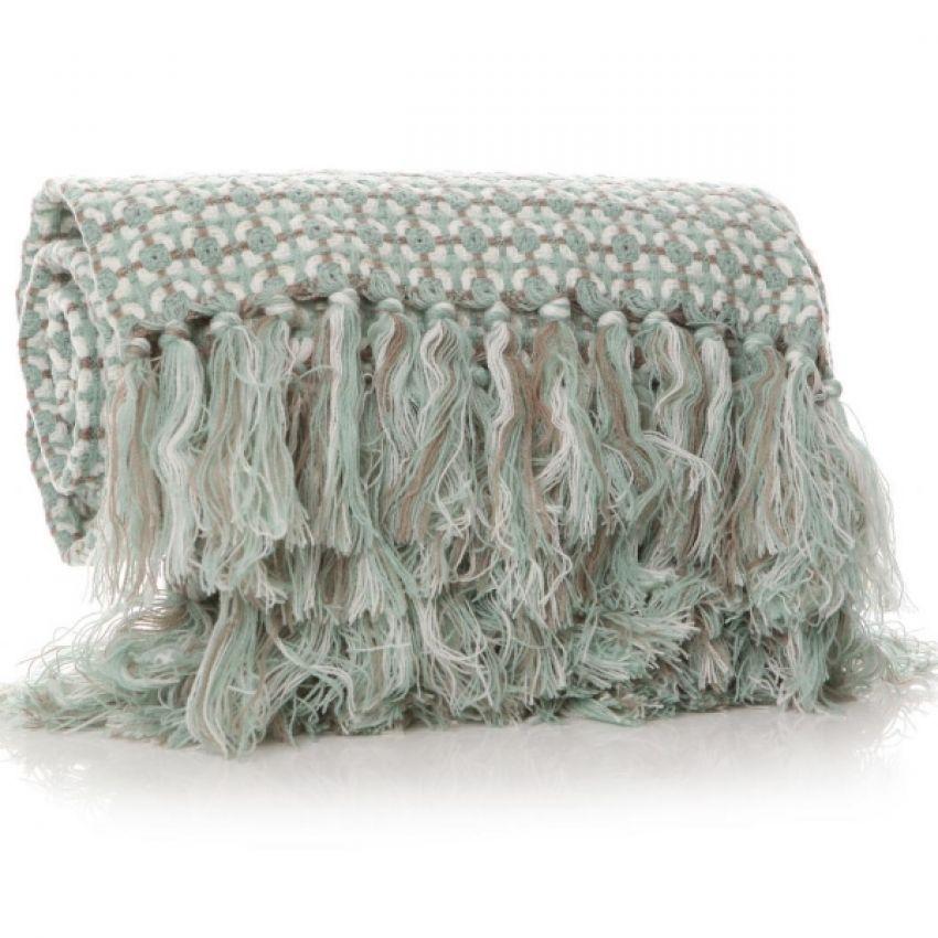 Shruti Anni Squared Green Blanket