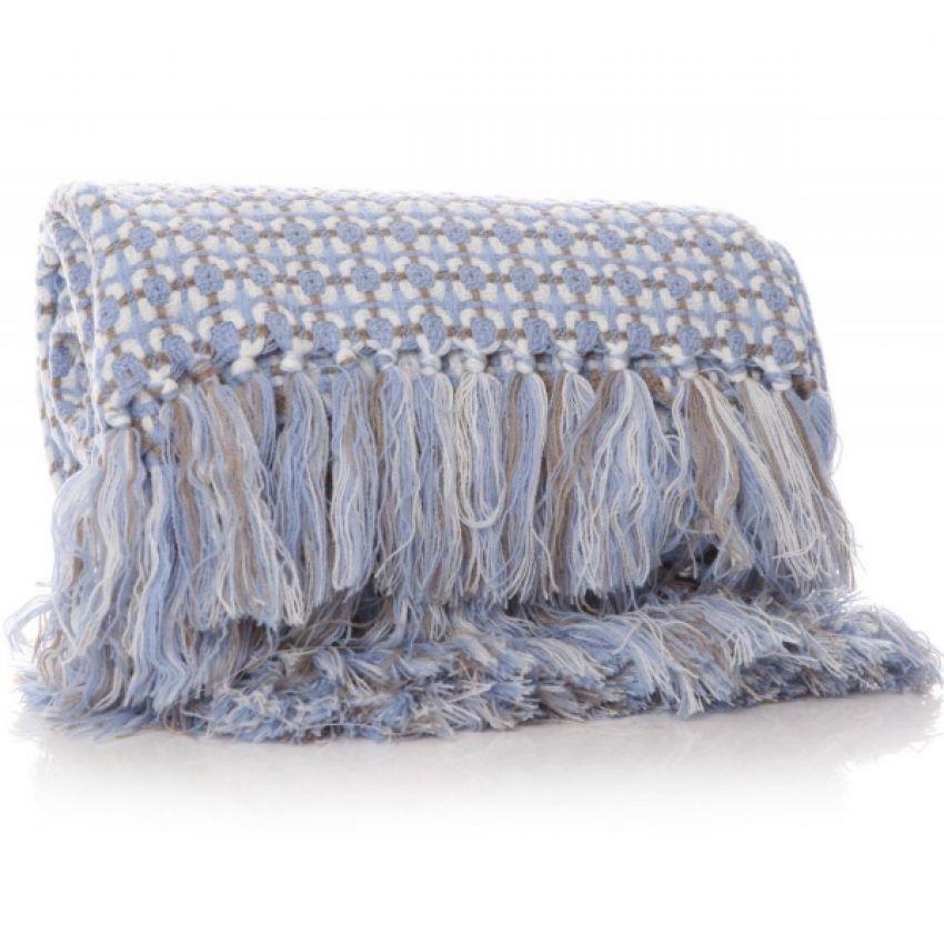 Shruti Anni Squared Light Blue Blanket