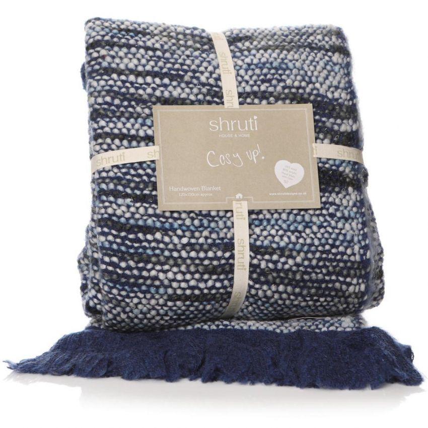 Anya Blanket Reverse Blue