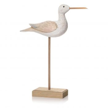 Large Natural Sculptured Bird on Stand  50842. This delightful carved bird sculpture would sit beautifully in your conservatory. Add a seaside companion to your home!