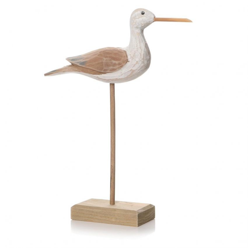 Medium Natural Sculptured Bird on Stand