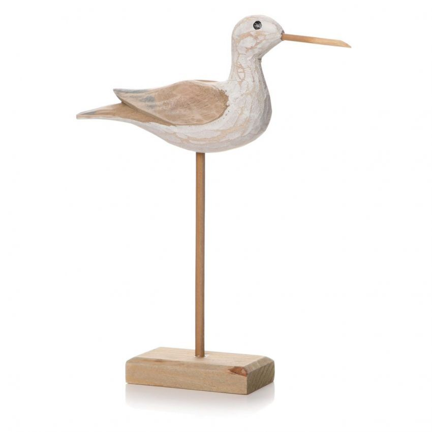Small Natural Sculptured Bird on Stand