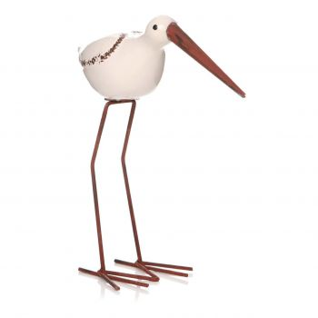 Bay Beach Bird White 50960. Perfect to brighten up a corner in your conservatory or living room! These birds are wonderful treats for a seaside cottage.