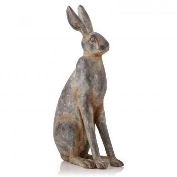 Large Natural Ash Hare 92847. This resin hare has a fantastic ash effect finish and looks brilliant sitting in your conservatory or hallway.