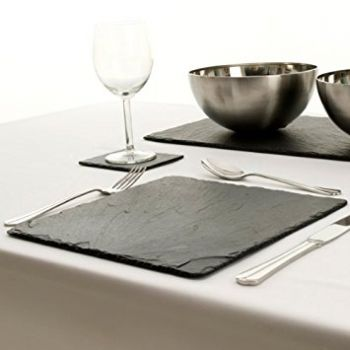 Amazing Slate Placemats. Good Slate Boards For Dinner. Square Slate  Placemats JS/TM ...