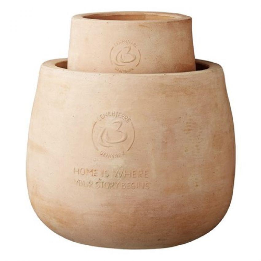 Kamili Rounded Terracotta Flower Pot Set