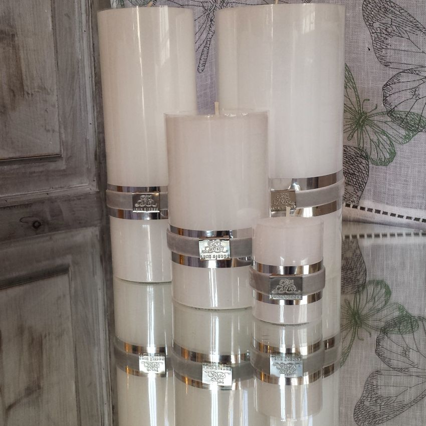 Rustic Candles - White