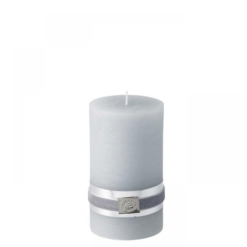 Rustic Light Grey Candle 12.5cm