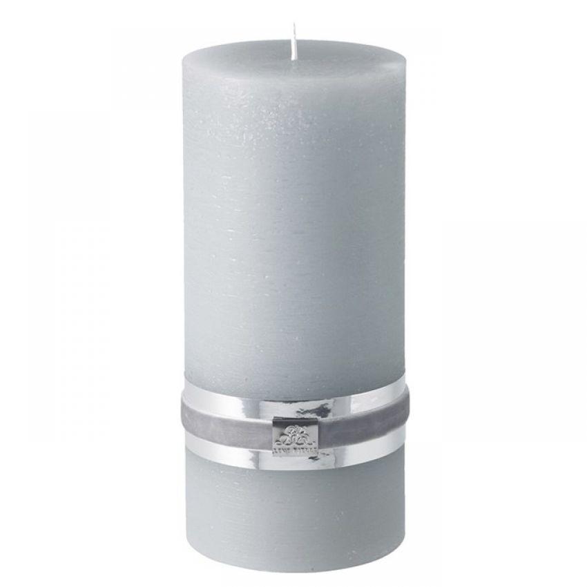 Rustic Light Grey Candle 20cm