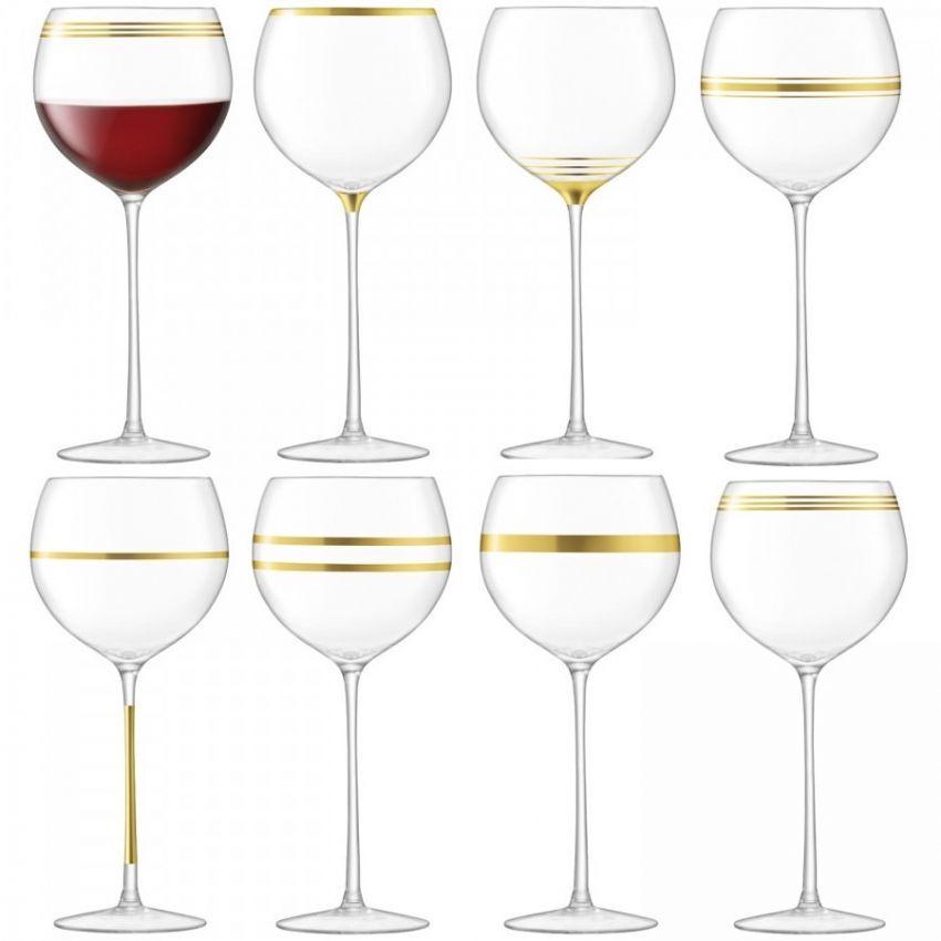 LSA International Deco Wine Goblet x8