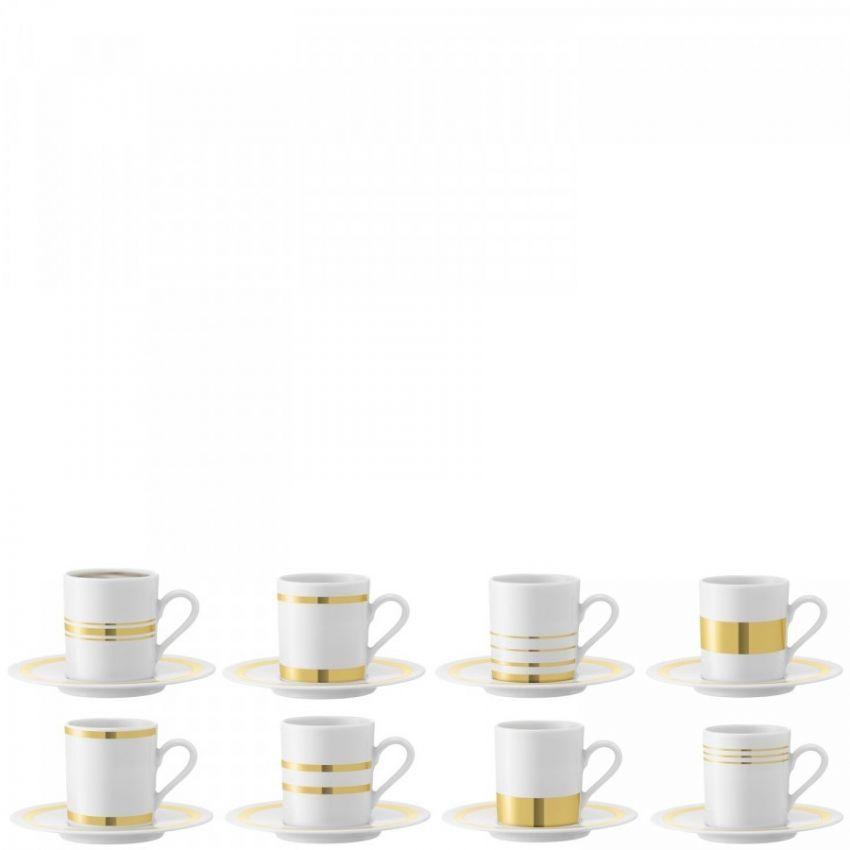 LSA International Deco Espresso Cup and Saucer x8