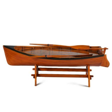 Antiqued Marine Wooden Rowing Boat Coffee Table