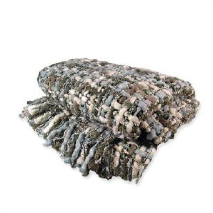 Chunky Knit Throw- Green