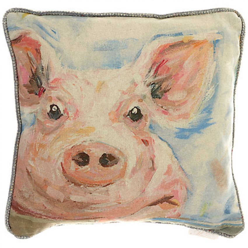 Nosey Pig Cushion