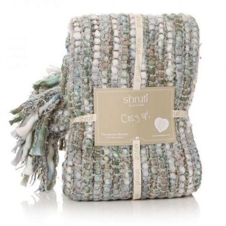 Shruti Tribeca Natural Knitted Blanket