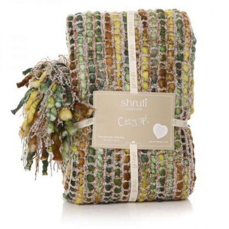 Shruti Tribeca Green Knitted Blanket