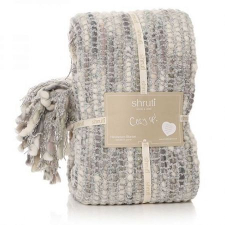 Shruti Tribeca Grey Knitted Blanket
