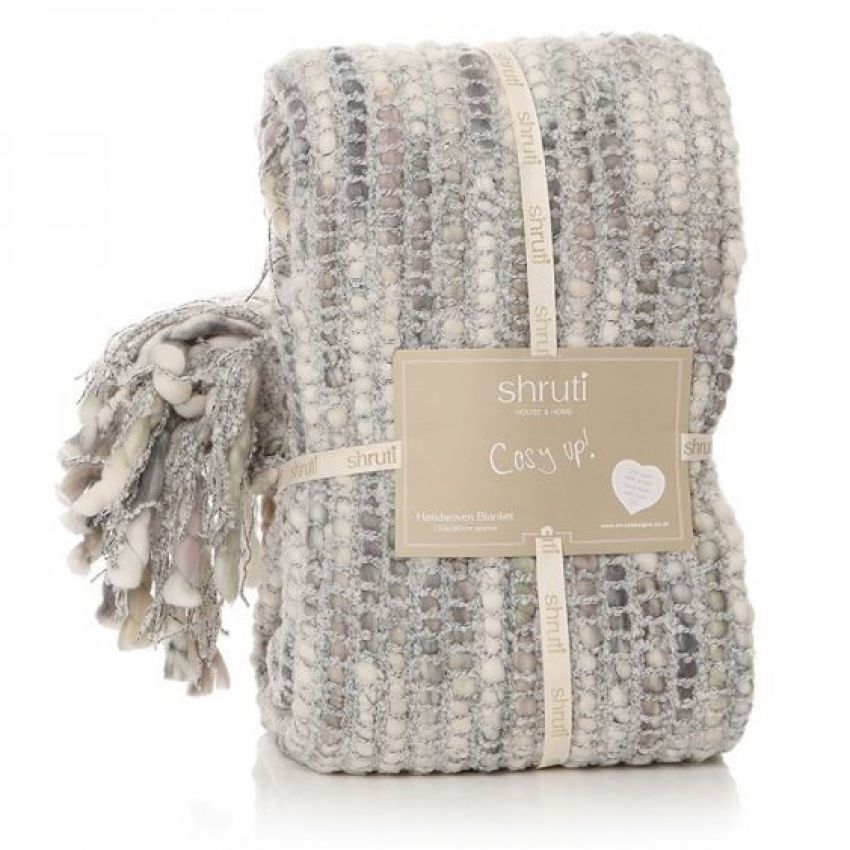 Shruti Tribeca Grey Knitted Blanket