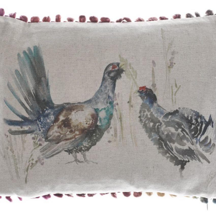 Capercaillie Couple - Mini Bird Cushion