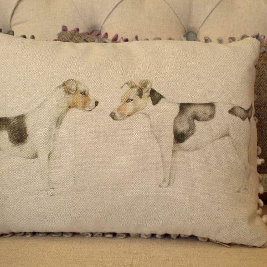 Eddie and Teddie - Mini Dog Cushion