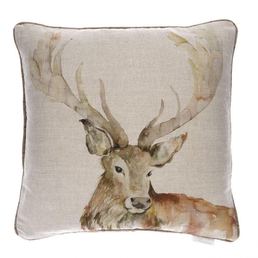 Gregor Linen Stag Cushion
