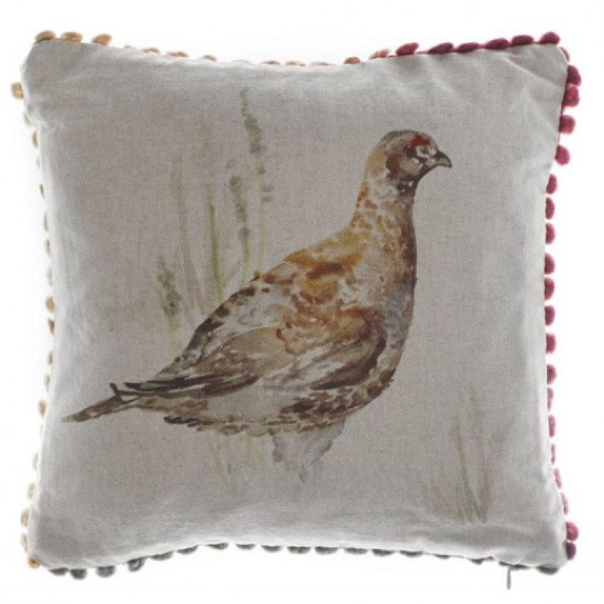 Mrs Grouse - Mini Bird Cushion