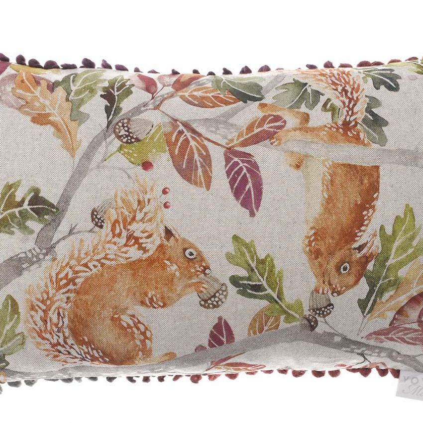 Scurry of Squirrels Cushion