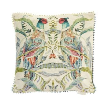 Voyage Bideford Pomegranate Cushion C170036. Gorgeously made with intricate detail, this Voyage cushion is beautifully illustrated with a wonderful nature design.