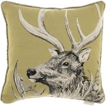 Justtrio barnstaple shop. Barnstaple furniture shop. New cushions. UK cushions. Cheap voyage cushions. Voyage Darby Mustard Cushion C170131 Voyage print cushions. Cushion sale. Gorgeously made with intricate detail, this Voyage cushion creates wonderful, atmospheric scenes of the forest with excellent styling of the stag. The artwork is a perfect example of the beautiful work Voyage Maison produce.
