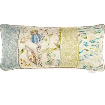 Voyage Kelston Capri Patchwork Cushion c180029. Gorgeously made with intricate detail, this Voyage cushion is beautifully illustrated with a wonderful patchwork nature design.